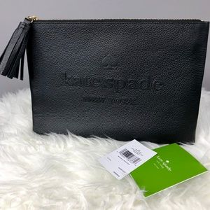 NWT KATE SPADE Street Leather Gia Clutch/Pouch